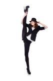 Woman dancer dancing Stock Image