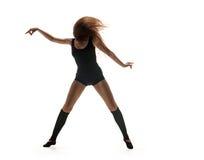 Woman dancer. dancing silhouette Stock Photo