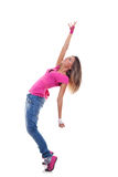 Woman dancer in hip hop attire Stock Photos
