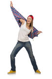 Woman dancer isolated Stock Photo