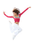Woman dancer jumping and dancing Stock Image