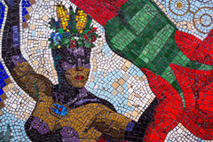 Woman dancer mosaic, Soho, London. Colourful mosaic showing a female dancer, Soho, London Stock Photo