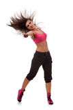 Woman dancer with one arm stretched forward Stock Images