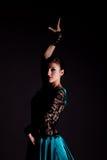 The woman dancer. portrait Stock Images