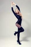 Woman dancer posing Stock Photos