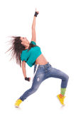 Woman dancer screaming Royalty Free Stock Photography