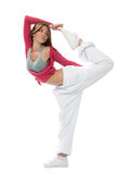 Woman dancer stratching Stock Images