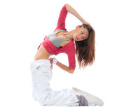 Woman dancer stretching dancing Royalty Free Stock Photos
