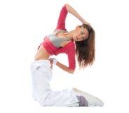 Woman dancer stretching dancing Royalty Free Stock Photos