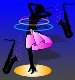 Woman is dancing Royalty Free Stock Photo