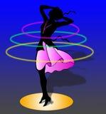 Woman is dancing Stock Photo