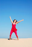 Woman dancing Stock Image