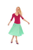 Woman dancing Stock Images