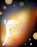 Woman dancing background Stock Images