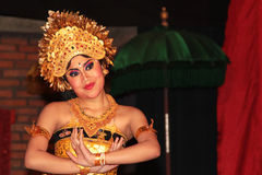 Woman dancing in Bali Royalty Free Stock Photos