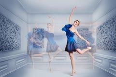Woman dancing ballet Royalty Free Stock Image