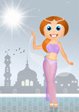 Woman dancing belly dance Royalty Free Stock Photos