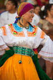 Woman dancing during Carnival, Galapagos Islands Stock Image