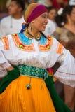 Woman dancing during Carnival, Galapagos Islands royalty free stock photos
