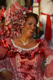 Woman dancing in the carnival parade royalty free stock images