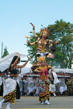 Woman dancing during the ceremony of Nyepi in Bali, Indonesia Royalty Free Stock Photos