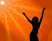 Woman dancing at disco Royalty Free Stock Photos