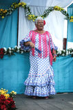 Woman dancing flamenco in Andalucia fair Royalty Free Stock Photo