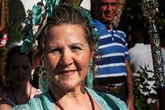 Woman dancing flamenco in Andalucia fair Stock Photos