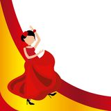 Woman dancing flamenco classic icon of Spanish culture Royalty Free Stock Images