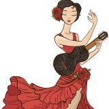 Woman dancing flamenco. Royalty Free Stock Photos