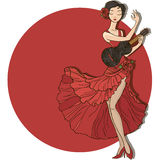 Woman dancing flamenco. Stock Images