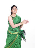 Woman dancing  happly Royalty Free Stock Images