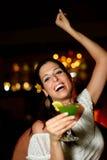 Woman dancing and having fun at night club Stock Photo