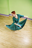 Woman dancing high angle view Royalty Free Stock Images