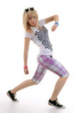 Woman is dancing hip-hop. Stock Image
