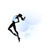 Woman dancing icon Royalty Free Stock Photo