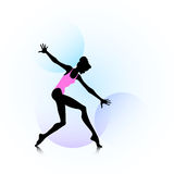 Woman dancing icon Royalty Free Stock Images