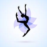 Woman dancing icon Royalty Free Stock Photos