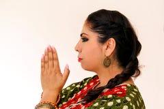 Woman dancing Indian dance in national dress. Shree kurta. Woman dancing Indian dance in national dress. A beautiful girl portrait in shree kurta patiala set Royalty Free Stock Image