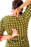 Woman dancing Indian dance in national dress. Shree kurta. Woman dancing Indian dance in national dress. A beautiful girl portrait in shree kurta patiala set Stock Photos