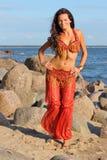 Woman dancing in indian dress Stock Image