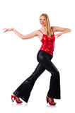 Woman dancing isolated Stock Photos