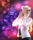 Woman dancing in the nightclub Stock Images