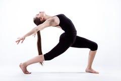Woman in dancing pose royalty free stock image