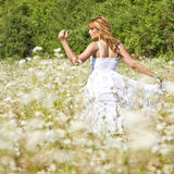 Woman Dancing In Savage Garden Royalty Free Stock Photo