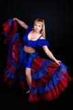 Woman dancing in studio Stock Photography
