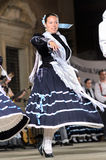 Woman dancing traditional folklore in Vélez-Rubio Stock Images