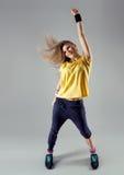 Woman dancing zumba Stock Images