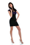 Woman In Dark Dress and High Heels Royalty Free Stock Photo