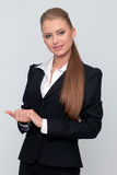 Woman in a dark suit Royalty Free Stock Photo